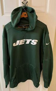 Nike New York Jets NFL Hoodie Sweatshirt Men 3XL Dri Fit On Field Green