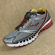 Brooks Running shoes Ghost silver yellow red men's size 11W 2EE