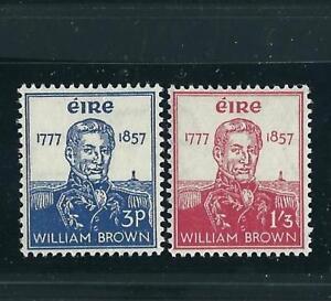 """Ireland Stamps 161-62 William """"Guilliermo"""" Brown MNH VF 1957 SCV"""