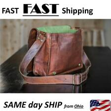 MENS / WOMENS genuine leather HAND MADE quality bag murse with strap