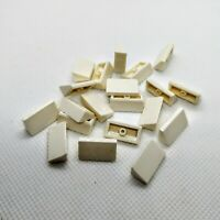 20x Genuine LEGO Part 85984 WHITE 1x2 Sloped Diagonal Roof Tile Slanted Brick