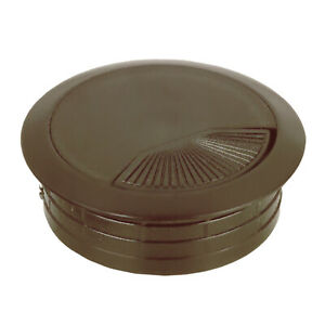 """(60MM) 2-3/8"""" Round Brown Computer Desk Table Wire Cable Hole Cover Grommet"""