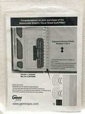 Gemini Jets 1:400 Scale Graphic Decal Sheet x 1 for Airport Mat Sets GJAPS007