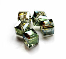 Hot 10mm Faceted Square Cube Cut Glass Crystal Loose Spacer Charm Beads 10Pcs
