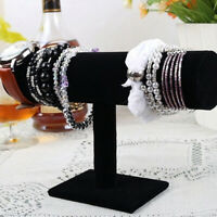 Velvet T-Bar Display Stand Holder Organizer Bracelet Jewelry Headband Rack Surpr
