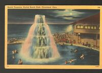 Unused Postcard Beach Fountain Euclid Beach Park Cleveland Ohio OH