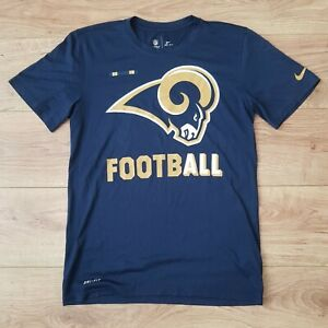NFL Los Angeles LA Rams Mens Nike American Football Navy T-Shirt - Size Small
