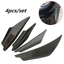 4pcs Carbon Fiber Car Front Bumper Splitter Body Spoiler Canards Kit Universal
