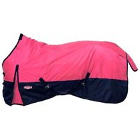 """Tough-1 78"""" Neon Pink 420D  150gm Fill Waterproof Poly Turnout Blanket Equine"""