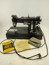 Necchi Model Bu Vintage Sewing machine Tested Works Manual and foot pedal.