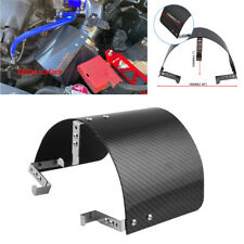 Universal Car Cold Air Intake Filter Cover Heat Shield Matte Carbon Fiber Style