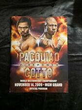 MANNY PACQUIAO VS  MIGUEL COTTO FIREPOWER PROGRAM 11/14/2009 MGM GRAND LAS VEGAS