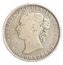 1898 NEWFOUNDLAND CANADA 50 CENTS SILVER, KM#6