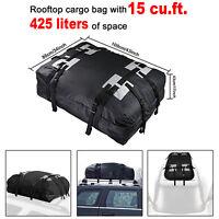 15 Cubic Feet Waterproof Car Roof Top Rack Bag Luggage Carrier Travel Storage