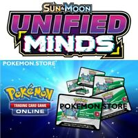 100 Unified Minds Codes Pokemon TCG Online Booster sent IN GAME / EMAILED FAST!
