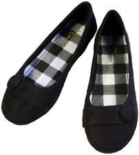 NEW WOMENS FAUX SUEDE BALLET FLAT ROUND TOE CASUAL SHOES CHECKER SHOES