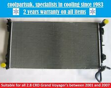 BRAND NEW RADIATOR CHRYSLER GRAND VOYAGER / VOYAGER 2.8 CRD DIESEL 2001 TO 2008