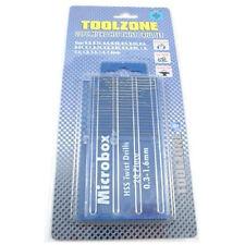 Toolzone Micro Drill Bits Microbox 20pc HSS Twist Set Precision 0.3-1.6mm +case