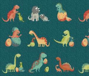 Dinosaurs Patchwork Fabric - Rex Collection from Makower