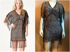 Bebe Lace & Fringe Dress Size XS