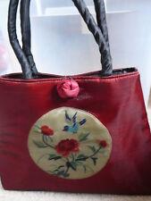 Purse Silk Passage To Asia Dark Red New Evening Bag Medium 9 X 9 X 11