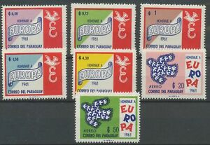 [P1098] Paraguay 1961 EUROPA good set very fine MNH stamps value $65
