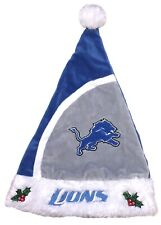 DETROIT LIONS PLUSH EMBROIDERED SANTA CHRISTMAS HOLIDAY HAT OSFM FREE SHIP