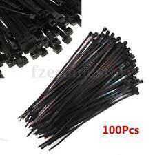 "100pcs 8"" 3x200mm Nylon Plastic Cable Ties Zip Fasten Wire Wrap Strap Black 40LB"