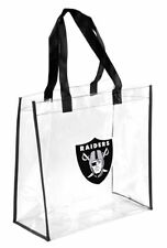 Oakland Raiders Clear Reusable Plastic Tote Bag NFL 2017 Stadium Approved