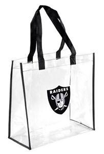 Las Vegas Raiders Clear Reusable Plastic Tote Bag NFL 2019 Stadium Approved