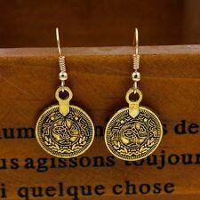 ORECCHINI DORATI GITANI VINTAGE MONETE - Gypsy Tibetan Silver Egypt Coin