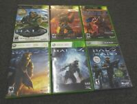 Complete SET Halo 1 2 3 4 Wars & 2 Map Pack XBOX and XBOX 360 1-4 player shooter