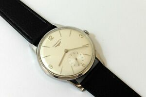 1967 LARGE GENTS STEEL LONGINES 30.L IN EXCELLENT NEAR MINT ORIGINAL CONDITION.