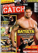 POWER CATCH n°4 ¤ 2010 ¤ BATISTA/TRIPLE H/MARK HENRY/JOHN CENA/ AVEC POSTER