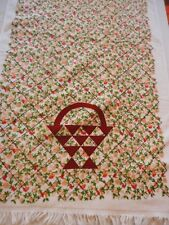 Bath Towel Vintage 1970's Wamsutta Country Floral Print ,U.S.A. Made