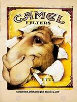 CAMEL ADVERTISING CIGGARETTES. 1976 ART PRINT POSTERHOME DECOR BB8061B