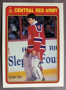 1990-91 O-Pee-Chee Red Army #7R Artur Irbe San Jose Sharks RC