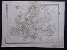 § carte Europe divisée en ses différents états - Félix Delamarche 1829