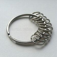 Large (58mm) 10 x Multi-Ring Jailers Fob / Keyring / Split Ring (FREE P&P)