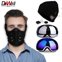Winter Sport Set Ski Dustproof Mask Anti-Fog Goggles Wireless Music Thermal Hat