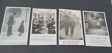 Lot of 4 BAMFORTH Life Model Series RPPC, Postman, Policeman, Train, Sailor