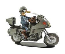 FIGURINE EN RESINE JOE BAR TEAM LUCAS TRAPLAT SUR SA MOTO BIKE BMW K 1100 1/18