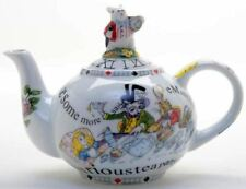 New boxed Paul Cardew Alice in Wonderland White Rabbit large 6 cup teapot