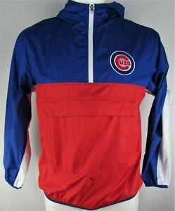Chicago Cubs MLB G-III Men's Royal & Red Quarter Zip Windbreaker