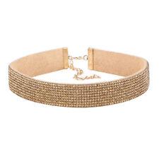 Rhinestone Full Diamond Necklace Jewelry Choker Collar Boho Crystal Women Velvet