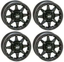 4 ATV/UTV Wheels Set 14in STI HD5 Beadlock Matte Black 4/156 5+2 POL