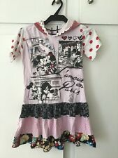Disney kids girls dress with hood and patchwork details rare boutique small