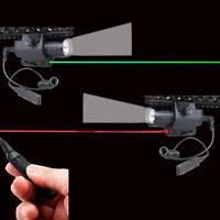 LED Flashlight Torch Light&Green/RED Laser Sight 20mm Rail for Rifle Pistol gun