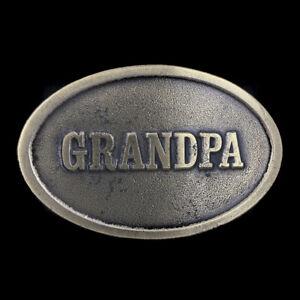 Vtg Grandpa Pappy Grandfather Granddad Pop Papa Dad Belt Buckle