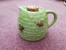 Vintage Bumble Bee Hive Ceramic Creamer Green with Cork